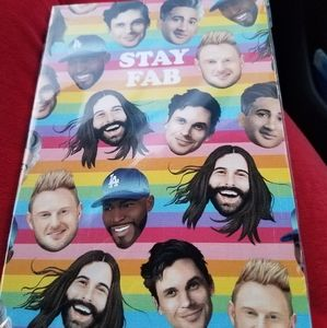 QUEER EYE FAB 5 BRAND NEW NOTEBOOK